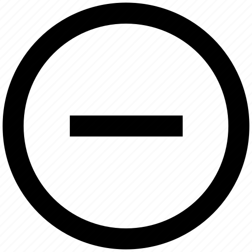 Circle, delete, minus, remove icon - Download on Iconfinder