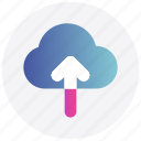arrow, cloud, interface, upload, user