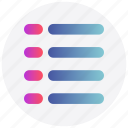 interface, list, task, text, user