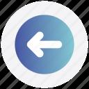 arrow, circle, forward, interface, left, user