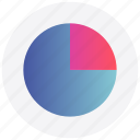 graph, infographic, interface, pie chart, user icon