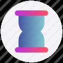 hourglass, interface, loading, sand, user