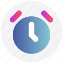 alarm, clock, interface, time, user icon