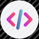 code, html, interface, script, user icon