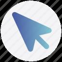 arrow, click, interface, mouse, user