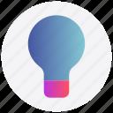bulb, creativity, idea, interface, light, user