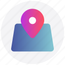 gps, interface, location, map pin, user icon