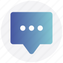 bubble, chat, comment, interface, message, speech, user icon