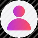interface, person, profile, user icon