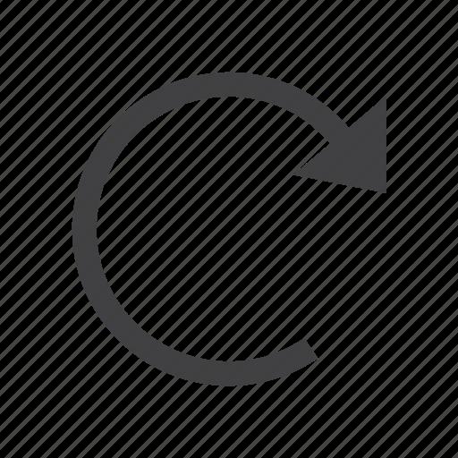 arrow, repeat, rotation icon