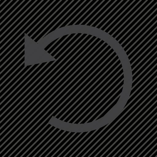 arrow, backward, undo icon