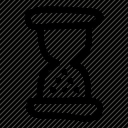 clock, hourglass, loading, measure, school, time, wait icon