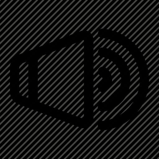 audio, multimedia, music, sound, speaker, volume icon