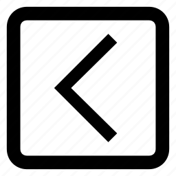 back, left arrow, previous, return icon