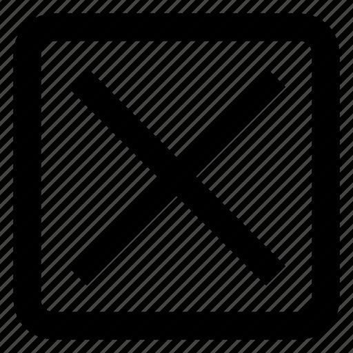cancel, close, delete, exit, remove icon icon