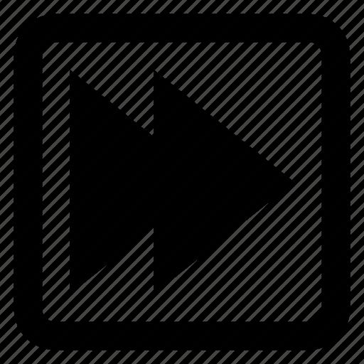 ahead, fast, forward, next icon icon