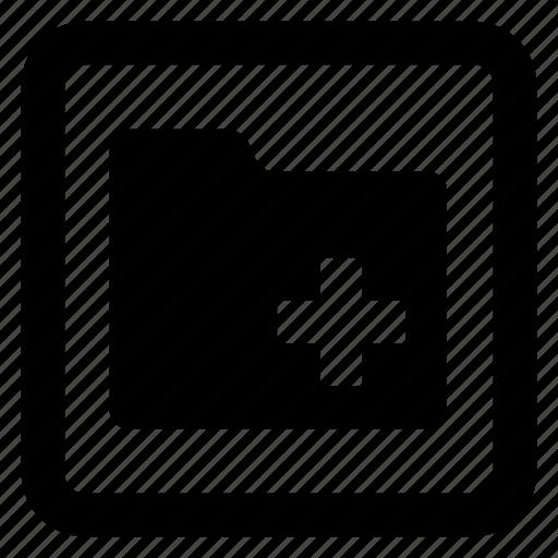 add, folder icon icon