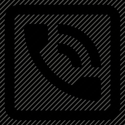 call, communication, phone, telephone icon icon