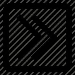 arrow button, fast, forward, multimedia icon