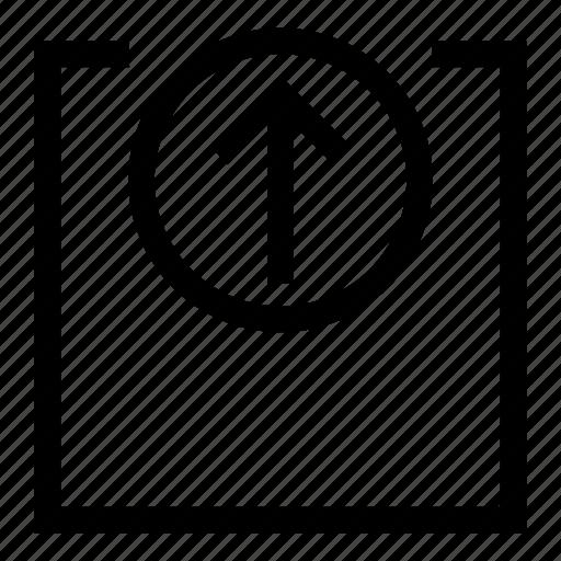 arrow, guardar, save, storage, up, upload icon