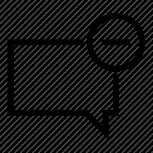 chat, delete, message, remove icon