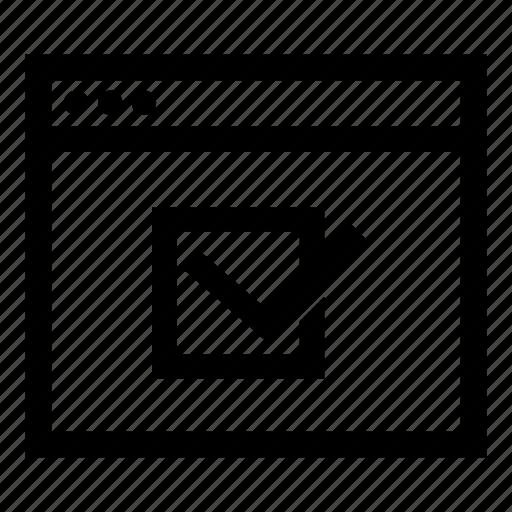 browser, check, success icon