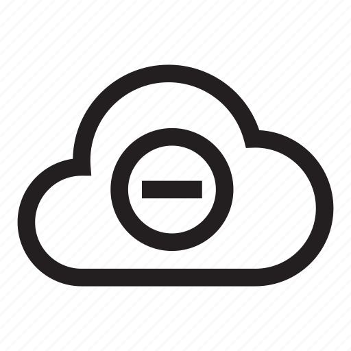 cloud, hosting, minus, remove, storage icon