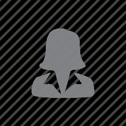 avatar, female, person, profile, ui, woman icon
