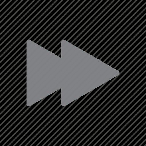 forward, media, navigation, player icon