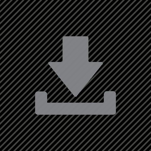 arrow, download, guardar, menu, save, storage icon