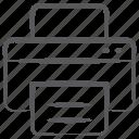 inkjet, printer, printing machine, typesetter, typographer icon