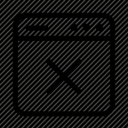 cancel, interface, screen, user, user interface, window, x icon