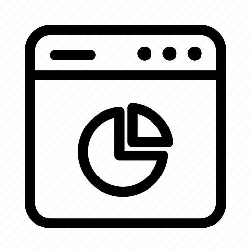 analytics, interface, pie chart, screen, user, user interface, window icon