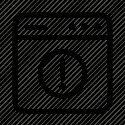 alert, interface, screen, user, user interface, warning, window icon