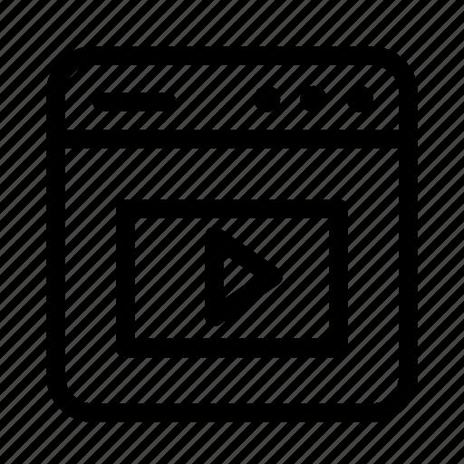 interface, media, screen, user, user interface, video, window icon