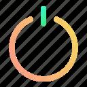 button, communication, gradient, interface, power, ui