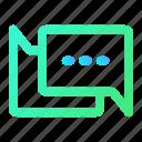 bubble, chat, communication, gradient, interface, talk, ui