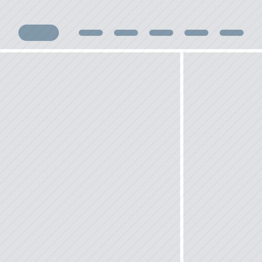 design, interface, layout, right sidebar, ui, user interface icon