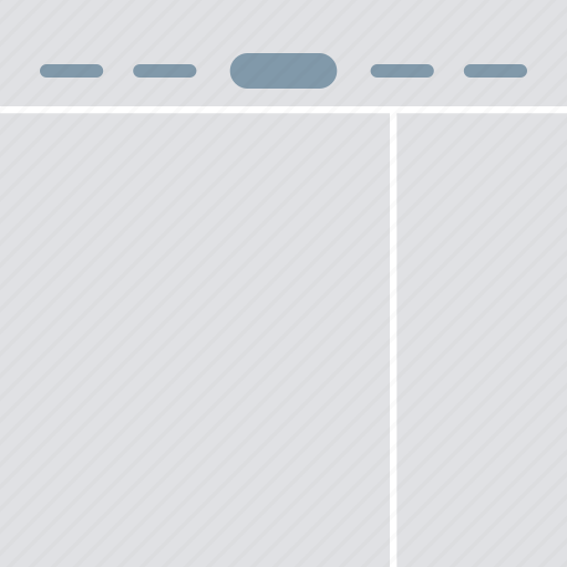 design, interface, layout, logo middle, right sidebar, ui icon