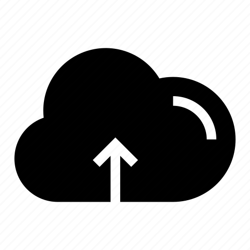 cloud, glyph, storage, ui, upload, ux icon