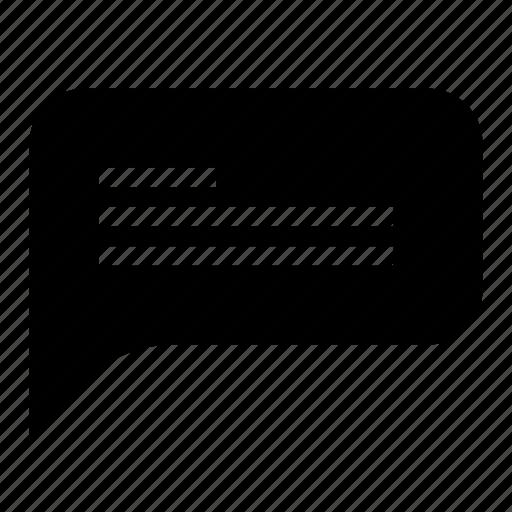 bubble, chat, chat bubble, glyph, interaction, ui, ux icon