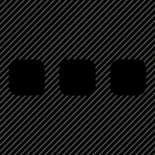 glyph, menu, more, setting, ui, ux icon