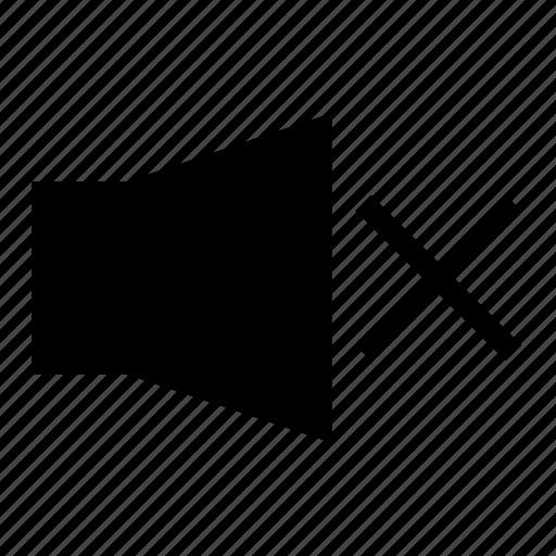 glyph, mute, no sound, sound mute, ui, ux icon
