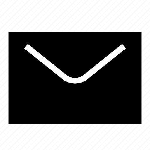 email, glyph, letter, mail, ui, ux icon
