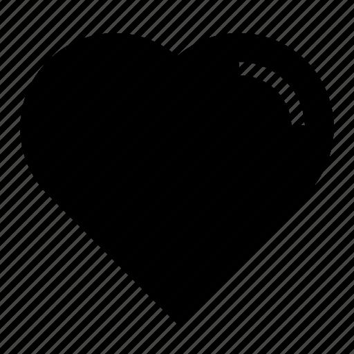 glyph, heart, love, ui, ux icon