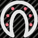 user interface, luck, horseshoe icon