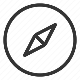 compass, direction, essential, navigation icon