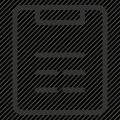 checklist, list, menu, notes, order icon