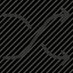 arrows, mix, random, shuffle, swap icon
