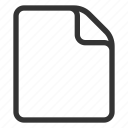 document, empty, file, page, paper icon